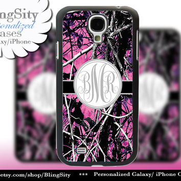Camo Gray Grey Monogram Galaxy S4 case S5 RealTree Muddy Camo Personalized Samsung Galaxy S3 Case Note 2 3 Cover Country Girl