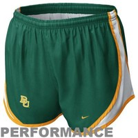 Nike Baylor Bears Ladies Tempo Performance Shorts - Green