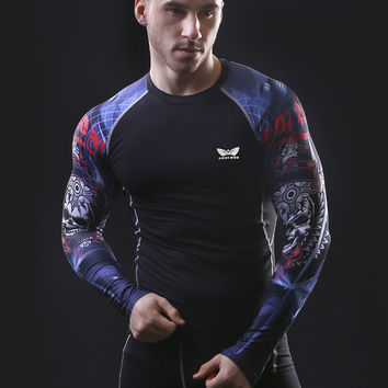 Compression Long sleeve Breathable Quick Dry T Shirts Bodybuilding Weight lifting Base Layer Fitness