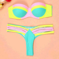 Summer Comfortable High Quality Sexy Bandages Ladies Swimwear [6047442113]