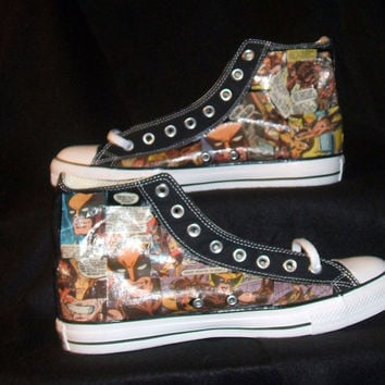 Wolverine X Men Marvel Comic Book Shoe - Geekery - Men - Converse Chuck Taylor AllStar