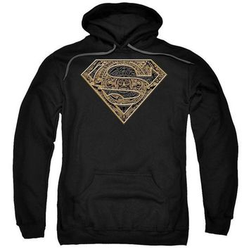 ac spbest Superman - Aztec Shield Adult Pull Over Hoodie
