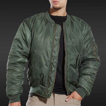 Trendy MA1 BOMBER JACKET Men Winter Army Air Force Pilot Fly Tactical Jacket Military Airborne Flight Warm Aviator Motorcycle Down Male AT_94_13