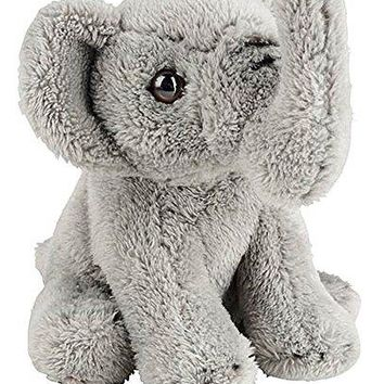 "Wildlife Tree 5"" Stuffed Elephant Calf Zoo Animal Plush Floppy Animal Heirloom Small World Collection"