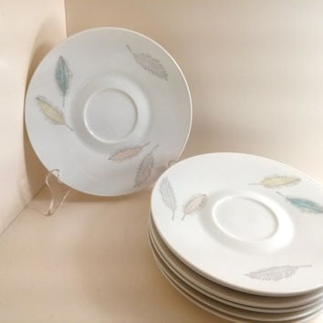 Lot of Vintage Bunte Blatter By Raymond Loewy Rosenthal Continental Mid Century Modern 1950's Porcelain Saucer  Form 2000