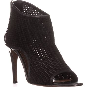 Donald J Pliner Ashlyn Peep-Toe Booties, Black, 9.5 US
