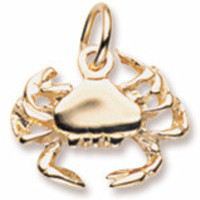 Crab Charm in Yellow Gold Plated