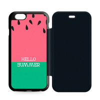 Watermelon Hello Summer Flip iPhone 6 | 6S Case