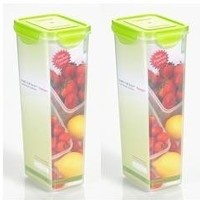 Kinetic Go Green Premium 39044 Nanosilver Food Container and Airtight Lids, 2-Piece