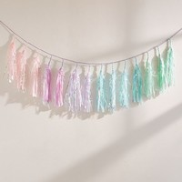 Studio Mucci Mermaid Rainbow Tassel Garland | Urban Outfitters