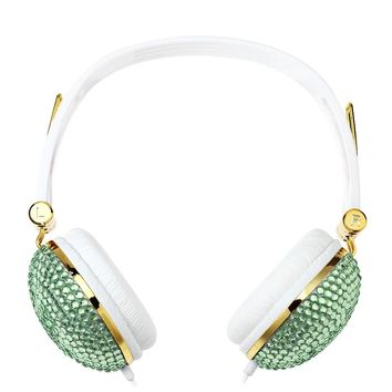 Crystal Beads Rhinestone Headphones with Anti-noise