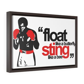 Muhammad Ali Float Like A Butterfly Sting Like A Bee Canvas Gallery Wrap