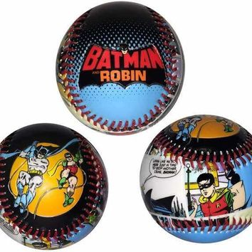 Batman and Robin Collectible Embossed Baseball