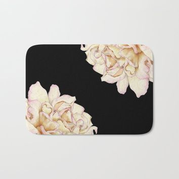 Roses - Lights the Dark Bath Mat by drawingsbylam