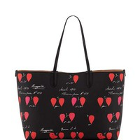 Alexander McQueen Medium Printed Leather Shopper Tote Bag