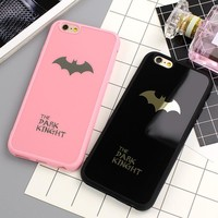 Batman Silicone Soft Phone Case For iPhone 6S 6 Plus Rubber Phone Back Cover For iPhone 7 7 Plus 6 6S Mirror Cases Phone Shell
