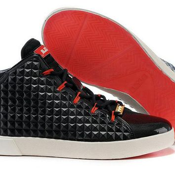 Where To Buy 2018 LeBron 12 NSW Lifestyle 716417 001 Black Challenge Red Brand sneaker