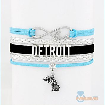 Love DETROIT MICHIGAN Bracelet