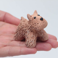 Funny handmade collection figurines Handmade statuette dog Unusual cute decor