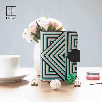 Kinbor Anniversary Notebook Inner Boho Geometry Design PU Book Cover Journal Note Book Planner Diary Organizer
