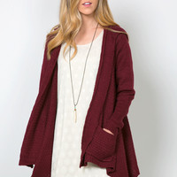 Corinne Cable Knit Cardigan