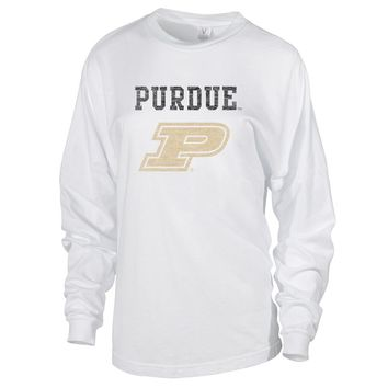 NCAA Purdue Boilermakers 01AMEW16 Women's Long Sleeve Spirit Jersey Tee