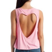 cut-out heart back tank