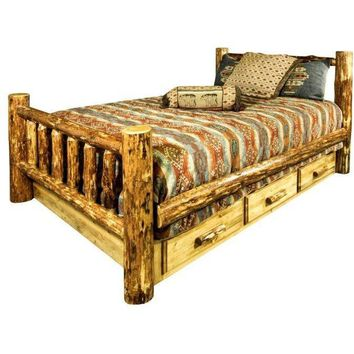 Montana Woodworks - Glacier Country Collection King Bed w/ Storage