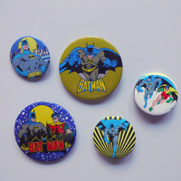 Vintage Batman Button Pin 1982