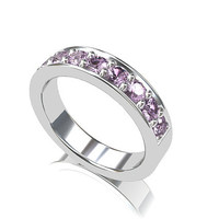 Lavender sapphire ring, white gold, wedding band, eternity, micro pave, purple sapphire, sapphire wedding, engagement ring