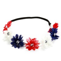Red Americana Flower Crown