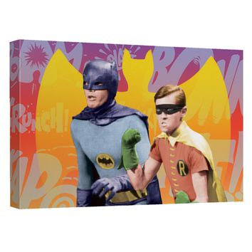 Batman Classic Tv - Biff Bang Pow Canvas Wall Art With Back Board