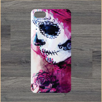 Day of The Dead Girl Watercolor iPhone 4/4S 5/5C 6/6+ Case and Samsung Galaxy S3/S4/S5