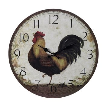 118-031  Rooster Wall Clock