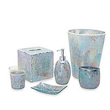 Aurora Pastel Cracked Glass Bath Accessory Ensemble