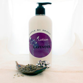Lavender Body Lotion 8oz Body Lotion Lavender Essential Oil - coconut oil and shae butter, gift idea, unique, handmade