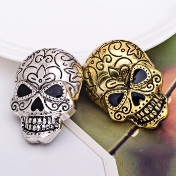 Fashion Punk Skull Brooch Pin Vintage Christmas Badge Jewelry Halloween Party Gift broches rozet brosche