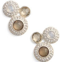 Women's Judith Jack 3 Stone Stud Earrings - Silver/ Opal/ Mother Of Pearl