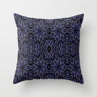 Blue Etch Throw Pillow by 2sweet4words