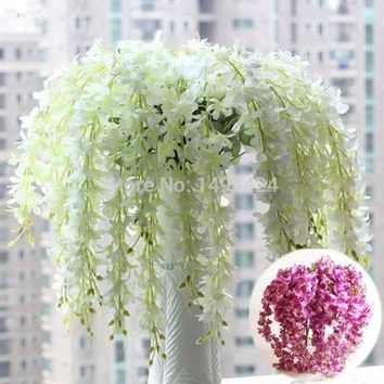 LMFUG3 Classic  Romantic Artificial Wisteria Silk Flower Home Party Wedding Garden Floral Decoration = 1931825796