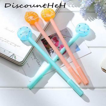 0.38mm Creative Cartoon Donuts Gel Pen Cute Kawaii Candy Color Pens For Writing School Supplies Stationery Free Shipping