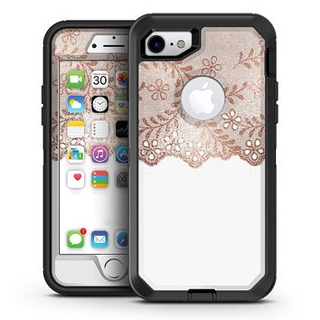 Rose Gold Lace Pattern 6 - iPhone 7 or 7 Plus OtterBox Defender Case Skin Decal Kit