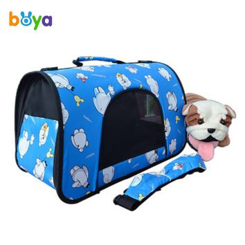 Dog Portable Soft-Sided Carriers Shoulder Hand Bag Leisure Animal Breathable Bags