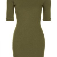 PETITE Mini Bodycon Dress - Olive