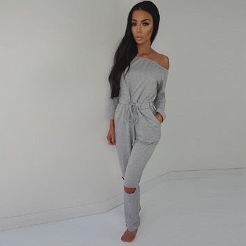 Strapless Drawstring Jumpsuit  13240
