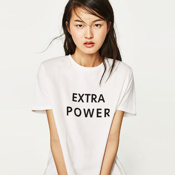 SLOGAN PRINT T - SHIRT WITH SHOULDER PADS-NEW IN-TRF | ZARA United States