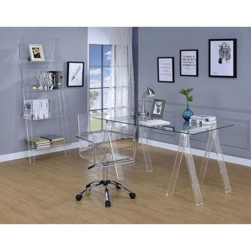 Amaturo Clear Acrylic Sawhorse Writing Desk | Overstock.com Shopping - The Best Deals on Desks