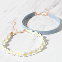 LA Hearts Denim and Laser Cut Choker Pack at PacSun.com