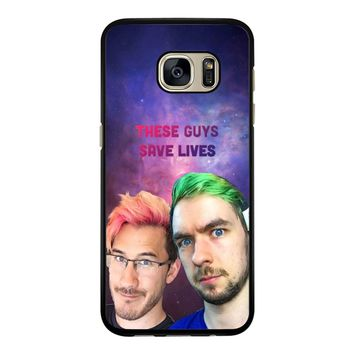 Septiplier The Guys Save Lives  Samsung Galaxy S7 Edge Case