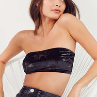 Out From Under Stretch Print Velvet Bandeau Bra | Urban Outfitters